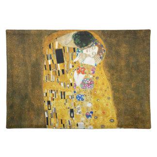 Gustav Klimt The Kiss Vintage Art Nouveau Painting Placemat