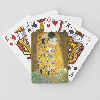 Gustav Klimt The Kiss Vintage Art Nouveau Painting Playing Cards