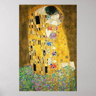 Gustav Klimt The Kiss Vintage Art Nouveau Painting Poster
