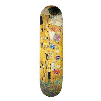 Gustav Klimt The Kiss Vintage Art Nouveau Painting Skateboard