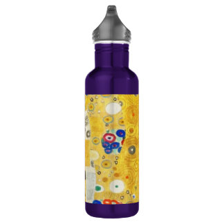 Gustav Klimt The Kiss Vintage Art Nouveau Painting Stainless Steel Water Bottle