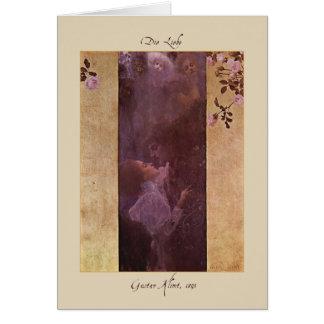 Gustav Klimt The Love 1895 Card