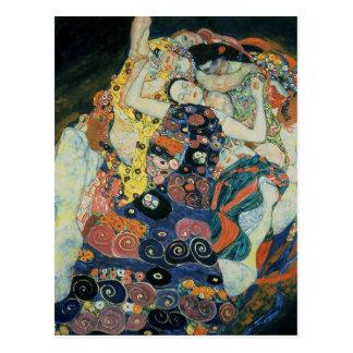 "Gustav Klimt : ""the Maiden"" Postcard"