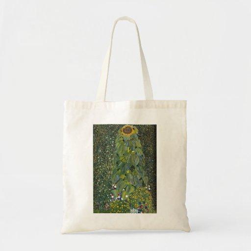Gustav Klimt- The Sunflower Canvas Bag
