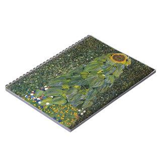 Gustav Klimt- The Sunflower Spiral Notebook