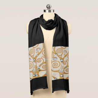 Gustav Klimt The Tree Of Life Art Nouveau Scarf
