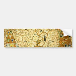 Gustav Klimt The Tree Of Life Vintage Art Nouveau Bumper Sticker