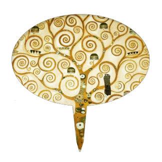 Gustav Klimt The Tree Of Life Vintage Art Nouveau Cake Topper