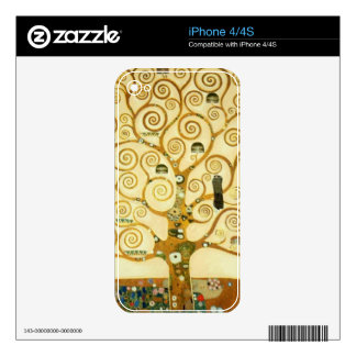 Gustav Klimt The Tree Of Life Vintage Art Nouveau Decal For iPhone 4