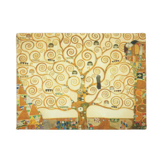 Gustav Klimt The Tree Of Life Vintage Art Nouveau Doormat