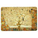 Gustav Klimt The Tree Of Life Vintage Art Nouveau Floor Mat