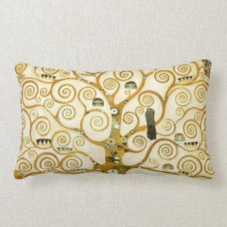 Gustav Klimt The Tree Of Life Vintage Art Nouveau Lumbar Pillow