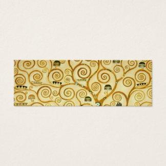 Gustav Klimt The Tree Of Life Vintage Art Nouveau Mini Business Card