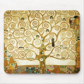 Gustav Klimt The Tree Of Life Vintage Art Nouveau Mouse Pad