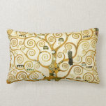 Gustav Klimt The Tree Of Life Vintage Art Nouveau Pillow