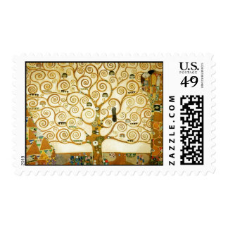Gustav Klimt The Tree Of Life Vintage Art Nouveau Postage