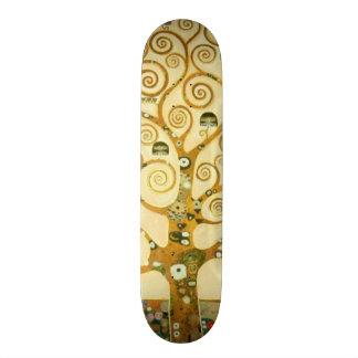 Gustav Klimt The Tree Of Life Vintage Art Nouveau Skateboard