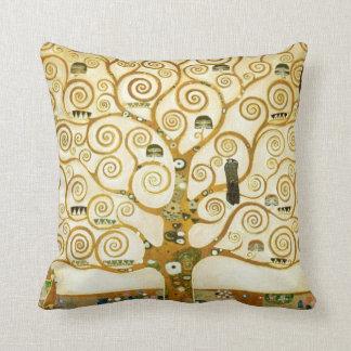 Gustav Klimt The Tree Of Life Vintage Art Nouveau Throw Pillow