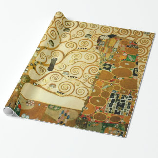 Gustav Klimt The Tree Of Life Vintage Art Nouveau Wrapping Paper