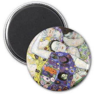 Gustav Klimt ~ The Virgin 2 Inch Round Magnet