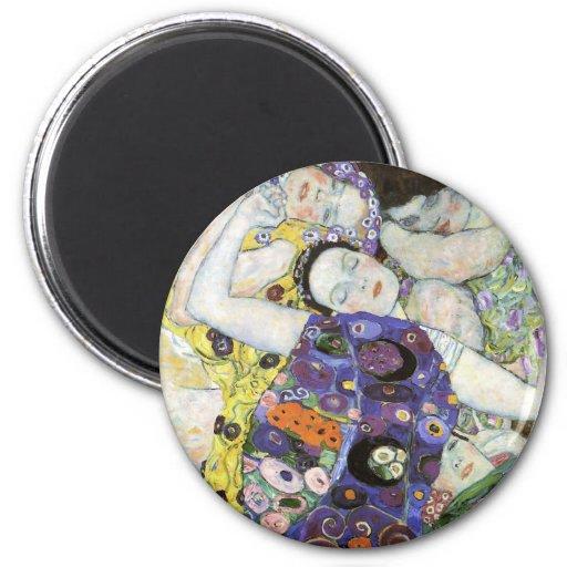 Gustav Klimt ~ The Virgin Fridge Magnet