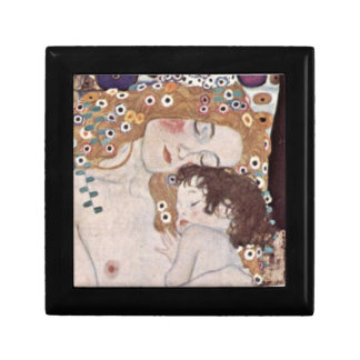 Gustav Klimt Three Ages of Woman detail Tiled Box Gift Boxes
