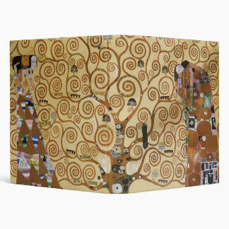 Gustav Klimt Tree Of Life 3 Ring Binder