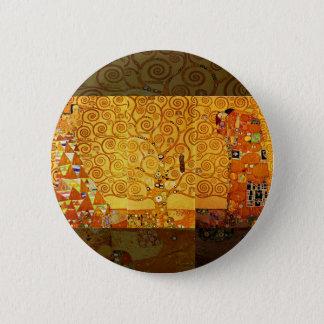 Gustav Klimt Tree of Life Art Nouveau Art Print Pinback Button