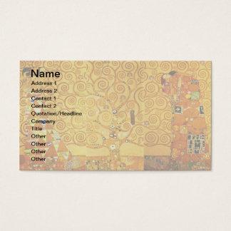 Gustav Klimt Tree of Life Art Nouveau Business Card
