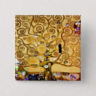Gustav Klimt Tree of Life Art Nouveau Button