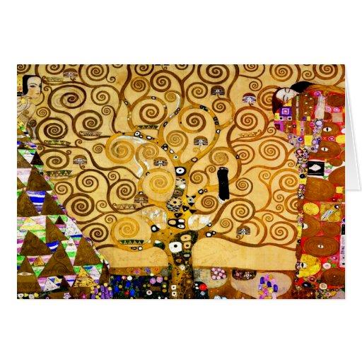 Gustav Klimt Tree of Life Art Nouveau Greeting Card