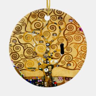 Gustav Klimt Tree of Life Art Nouveau Ceramic Ornament