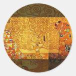 Gustav Klimt Tree of Life Art Nouveau Stickers