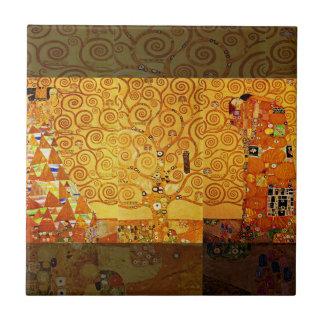 Gustav Klimt Tree of Life Art Nouveau Tile