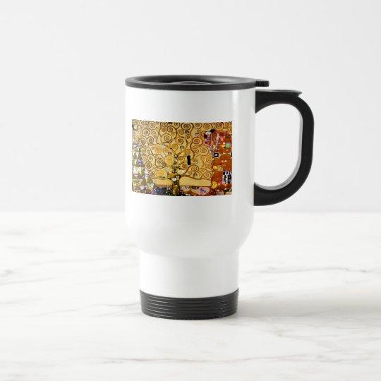 Gustav Klimt Tree of Life Art Nouveau Travel Mug