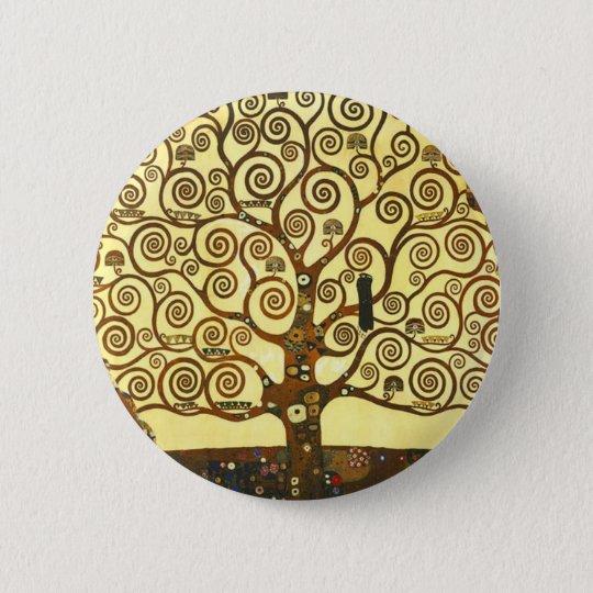 Gustav Klimt Tree of Life Button
