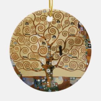 Gustav Klimt Tree Of Life Ceramic Ornament