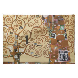 Gustav Klimt Tree Of Life Cloth Placemat