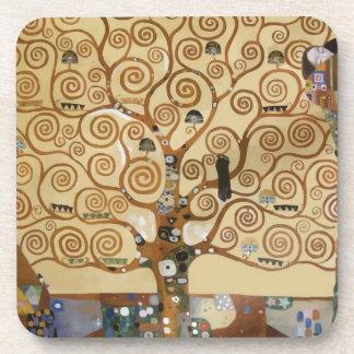 Gustav Klimt Tree Of Life Beverage Coaster