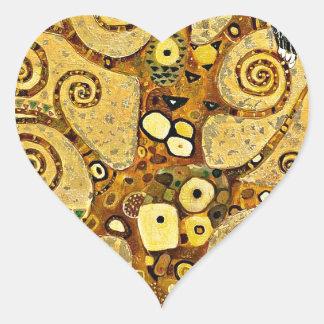 gustav klimt u201ctree of lifeu201d heart sticker