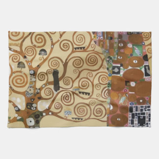 Gustav Klimt Tree Of Life Hand Towels