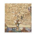 Gustav Klimt Tree Of Life Notepad