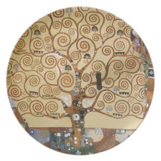 Gustav Klimt Tree Of Life Plate