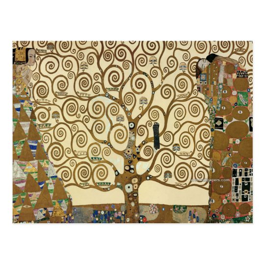 Gustav Klimt - Tree of Life Postcard