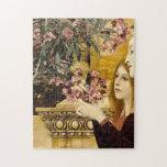 """Gustav Klimt - Two Girls With Oleander Jigsaw Puzzle<br><div class=""""desc"""">Gustav Klimt - Two Girls With Oleander</div>"""