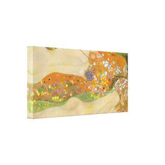Gustav Klimt - Water snakes (friends) II Canvas Print