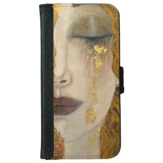 Gustav Klimt Woman Crying Wallet Case