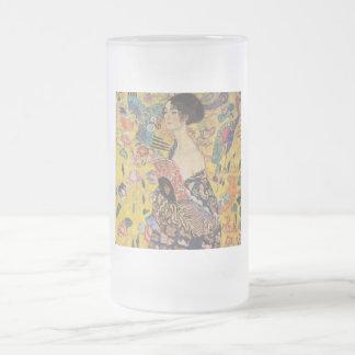 Gustav Klimt - Woman with fan Beer Mugs