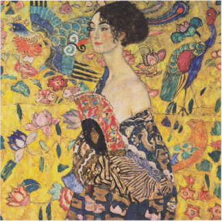 Gustav Klimt - Woman with fan Statuette