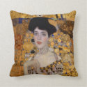 Gustav Klimt Women Throw Pillow (<em>$31.35</em>)
